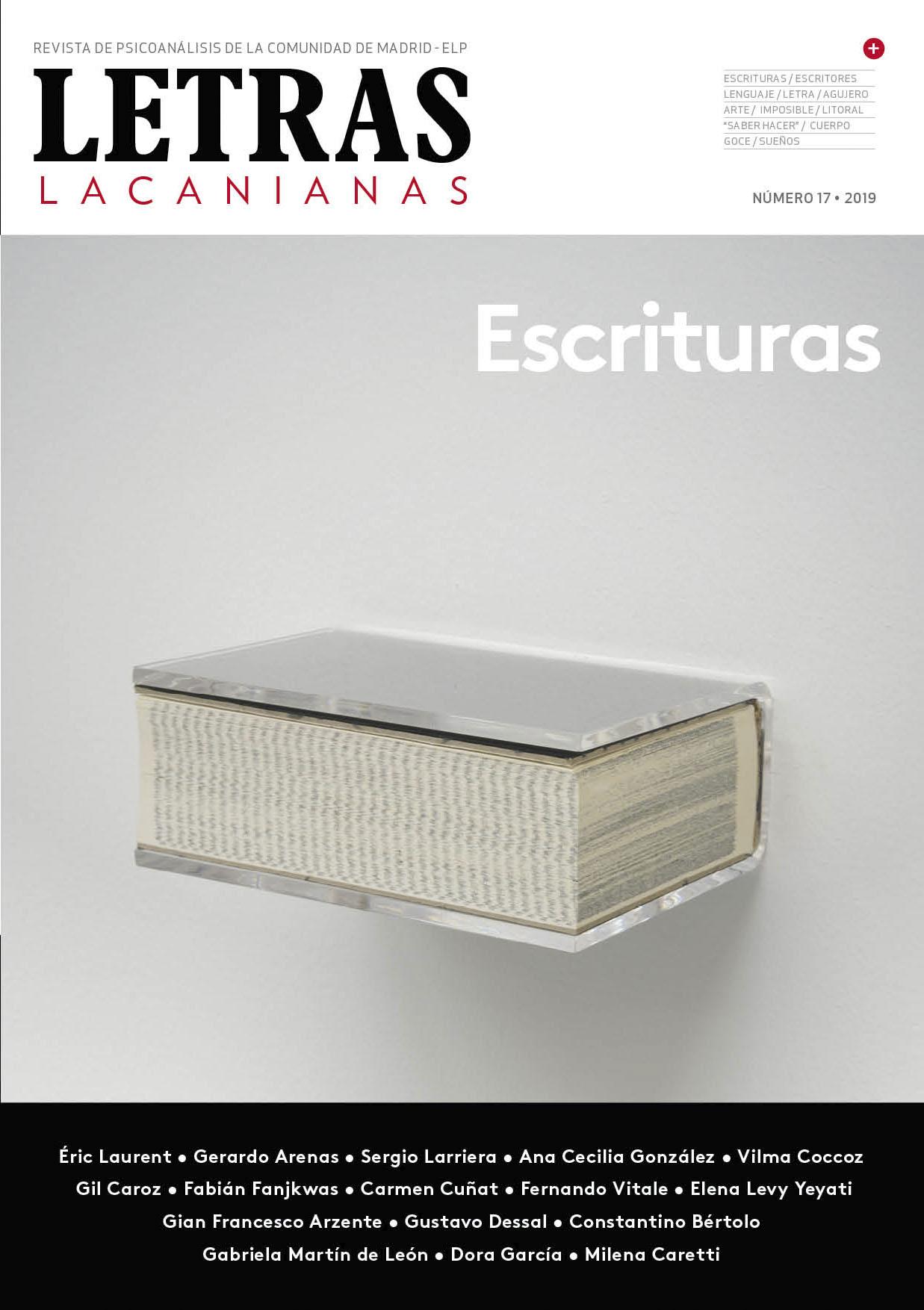 Letras Lacanianas 17, Escrituras Editorial por Blanca Medina